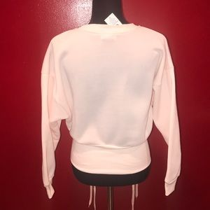 Sweaters - Sweater With Lace Up Detail